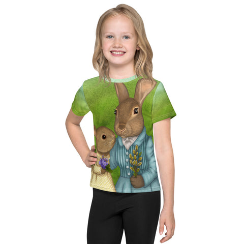 "Unisex kids T-shirt ""It is never winter in the land of hope"" (Hares)"