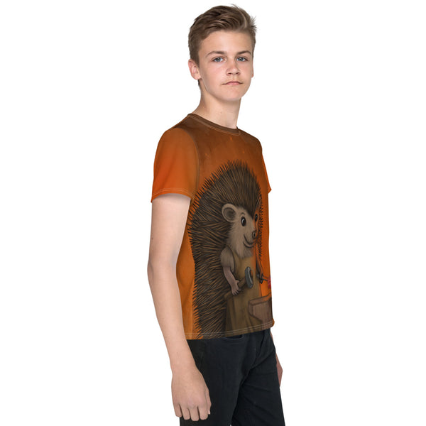 "Unisex youth T-shirt ""Everyone is the blacksmith of his own fortune"" (Hedgehog)"