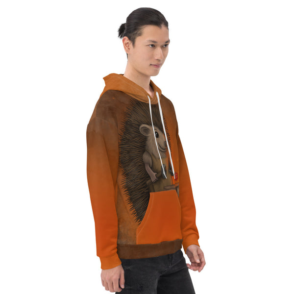 "Unisex hoodie ""Everyone is the blacksmith of his own fortune"" (Hedgehog)"