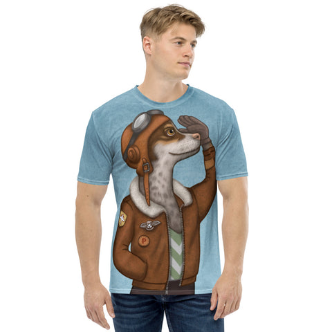 "Men's T-shirt ""Have courage and the world is yours"" (Dog)"