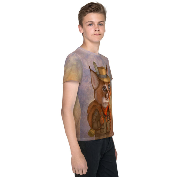 "Unisex youth T-shirt ""The wise traveler leaves his heart at home"" (Caracal)"