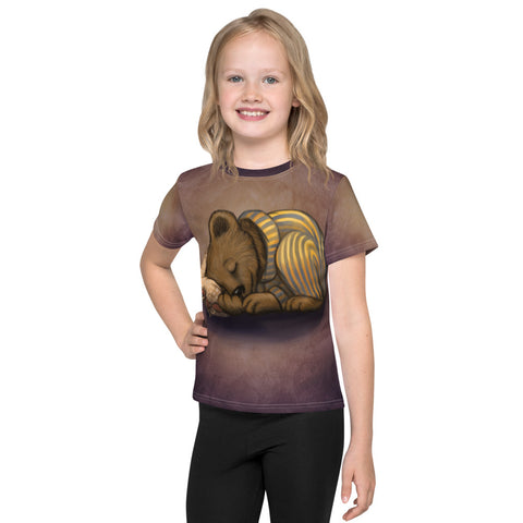 "Unisex kids T-shirt ""Morning is wiser than evening"" (Bear)"