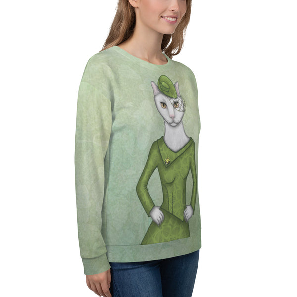"Unisex sweatshirt ""Smooth cat, sharp claws"" (Cat)"