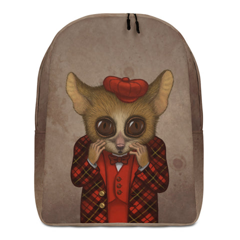 "Backpack ""Fear has big eyes"" (Mouse lemur)"