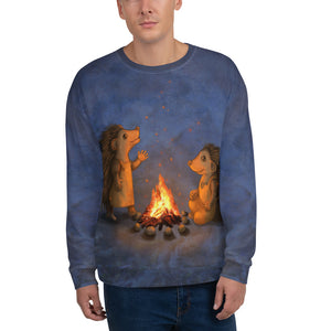 "Unisex sweatshirt ""Blacksmith's children are not afraid of sparks"" (Hedgehogs)"