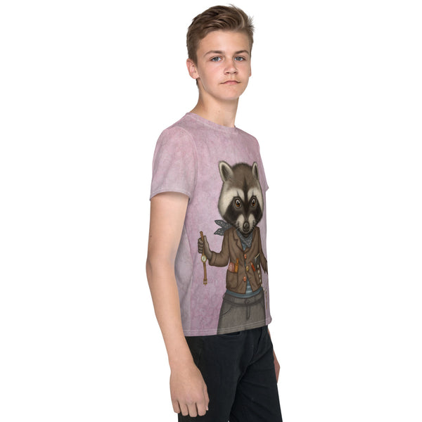 "Unisex youth T-shirt ""Finders keepers"" (Raccoon)"
