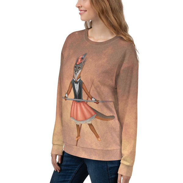 "Unisex sweatshirt ""A sense of humor is the pole to balance our steps on the tightrope of life"" (Island fox)"