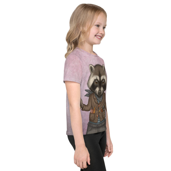 "Unisex kids T-shirt ""Finders keepers"" (Raccoon)"