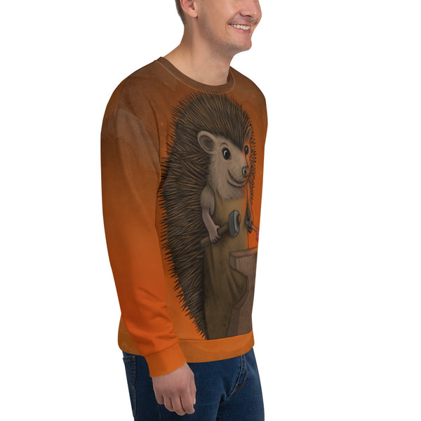 "Unisex sweatshirt ""Everyone is the blacksmith of his own fortune"" (Hedgehog)"