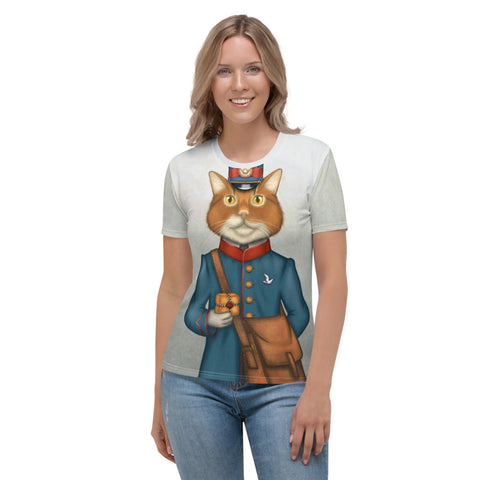 "Women's T-shirt ""The best things come in small packages"" (Cat)"