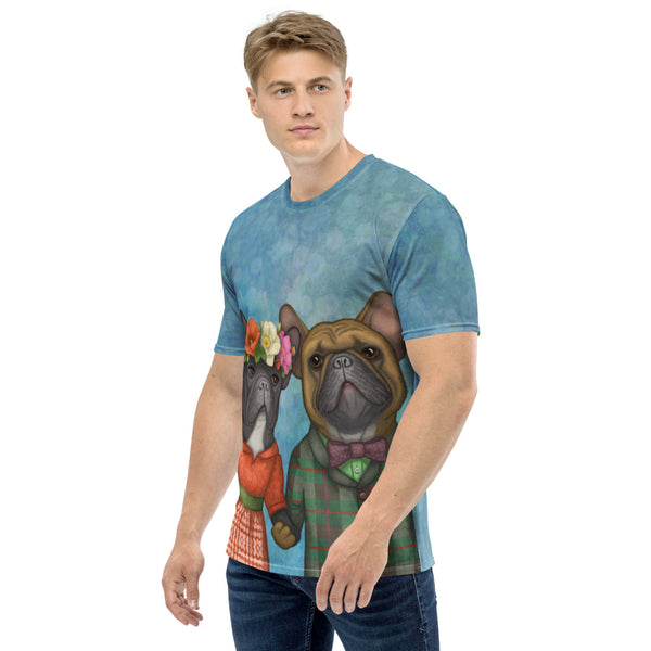 "Men's T-shirt ""A life without love is like a year without summer"" (French Bulldogs)"