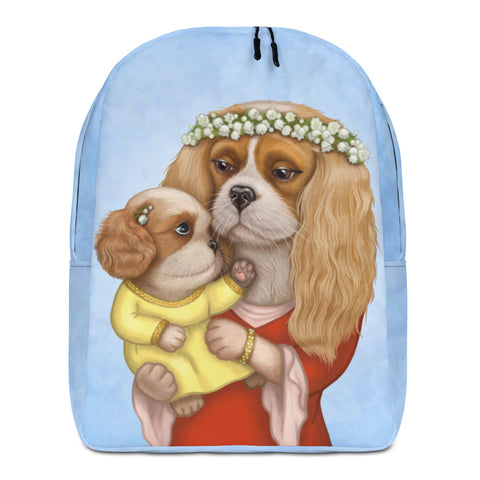 "Backpack ""Time brings everything to those who can wait for it"" ( Cavalier King Charles spaniel)"