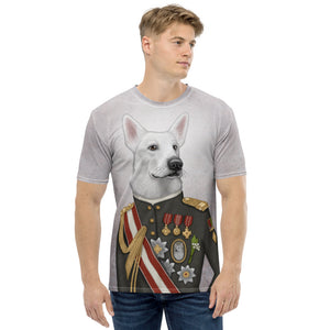 "Men's T-shirt ""A king's face should show grace"" (White Swiss Shepherd Dog)"