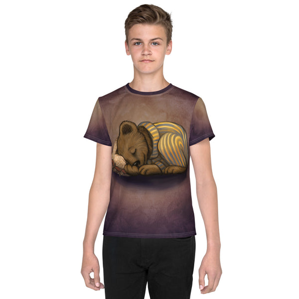 "Unisex youth T-shirt ""Morning is wiser than evening"" (Bear)"