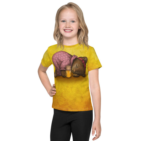 "Unisex kids T-shirt ""Sleeping is sweeter than honey"" (Bear)"