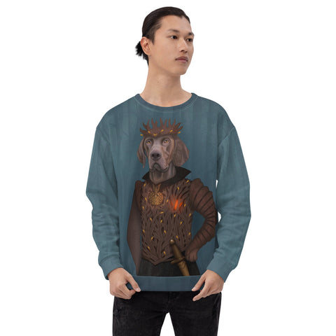 "Unisex sweatshirt ""A man's heart is a forest"" (German Shorthaired Pointer)"