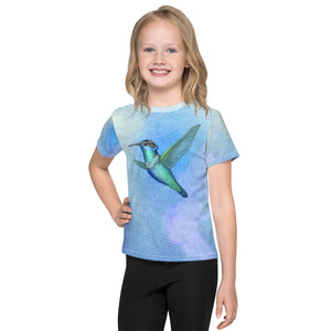 "Unisex kids T-shirt ""Small is beautiful"" (Hummingbird)"