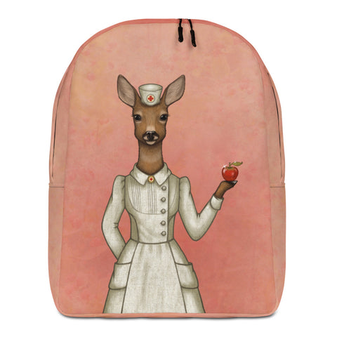 "Backpack ""An apple a day keeps the doctor away"" (Deer)"