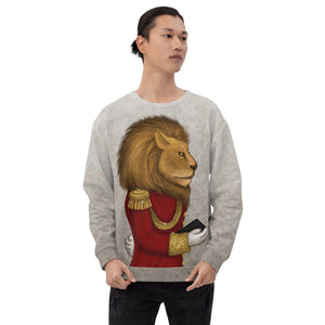 "Unisex sweatshirt ""The word is stronger than the army"" (Lion)"