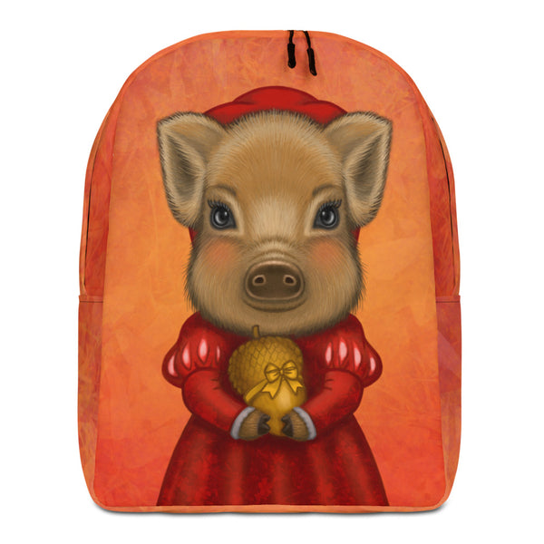 "Backpack ""A small gift is better than a great promise"" (Wild boar)"