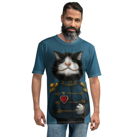 "Men's T-shirt ""All's fair in love and war"" (Cat)"