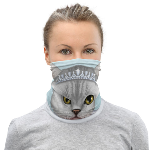 "Neck gaiter ""Don't marry a girl who wants strawberries in January"" (British Shorthair)"