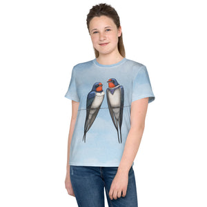 "Unisex youth T-shirt ""Everybody loves his homeland"" (Swallows)"
