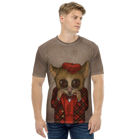 "Men's T-shirt ""Fear has big eyes"" (Mouse lemur)"