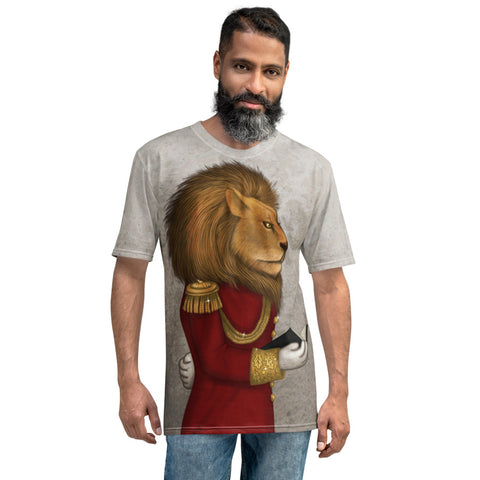 "Men's T-shirt ""The word is stronger than the army"" (Lion)"