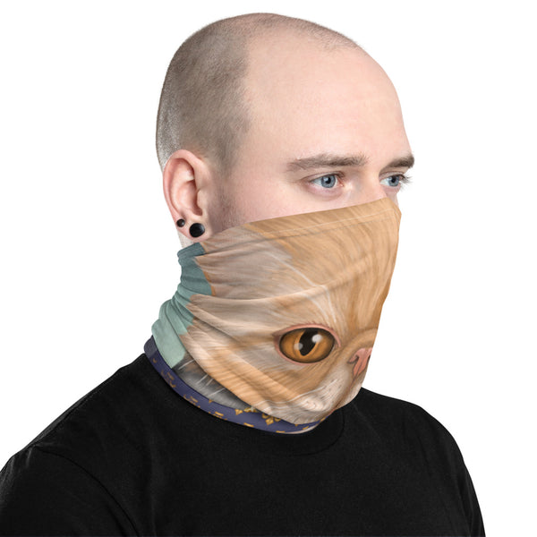 "Neck gaiter ""Punctuality is the politeness of kings"" (Persian cat)"