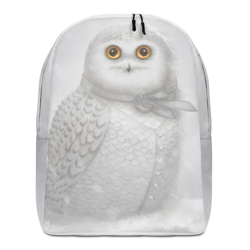 "Backpack ""The North wind does blow and we shall have snow"" (Snowy owl)"