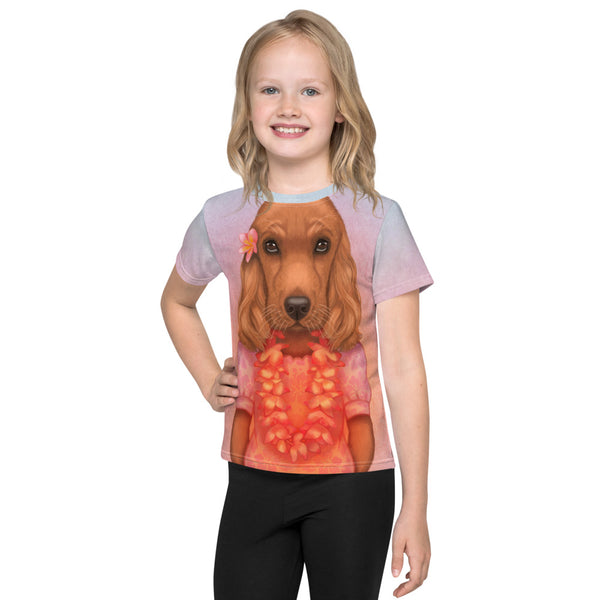 "Unisex kids T-shirt ""Love is worn like a wreath through the summers and the winters"" (English Cocker Spaniel)"