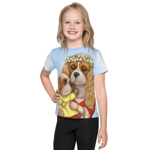 "Unisex kids T-shirt ""Time brings everything to those who can wait for it"" ( Cavalier King Charles Spaniels)"