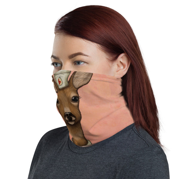 "Neck gaiter ""An apple a day keeps the doctor away"" (Deer)"