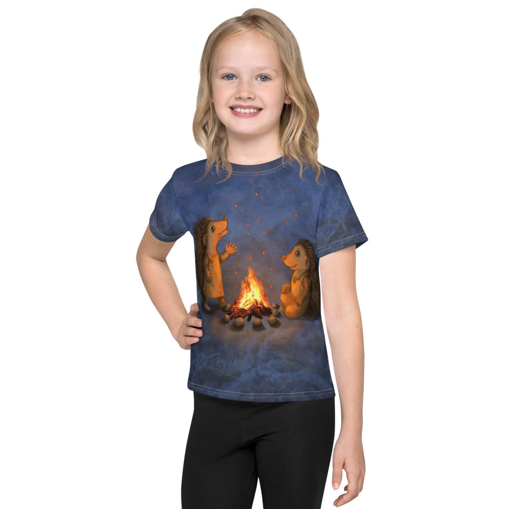 "Unisex kids T-shirt ""Blacksmith's children are not afraid of sparks"" (Hedgehogs)"