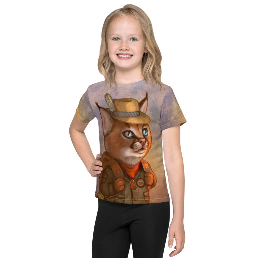 "Unisex kids T-shirt ""The wise traveler leaves his heart at home"" (Caracal)"