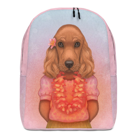 "Backpack ""Love is worn like a wreath through the summers and the winters"" (English cocker spaniel)"
