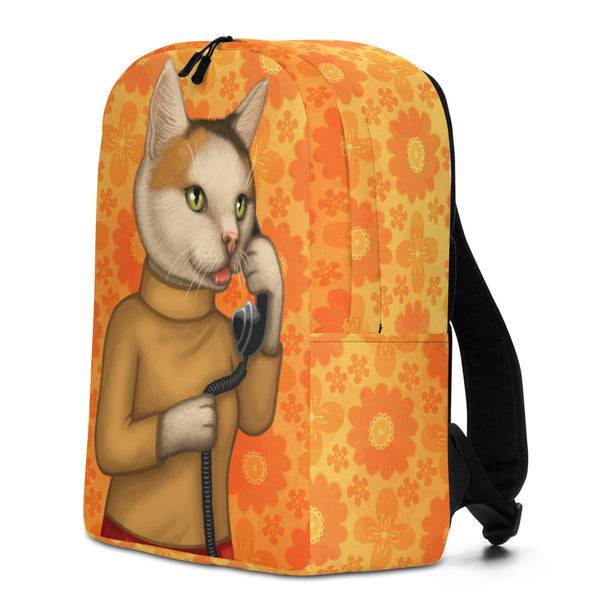 "Backpack ""Great stories happen to those who can tell them"" (Cat)"