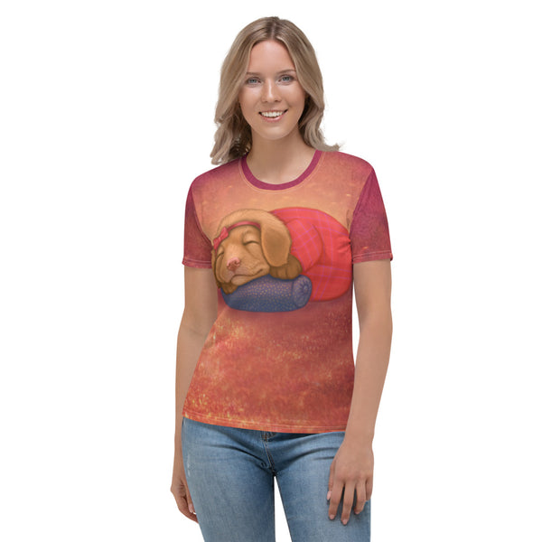 "Women's T-shirt ""Let her sleep for when she wakes she will move mountains"" (Nova Scotia Duck Tolling Retriever)"