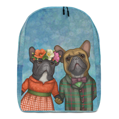 "Backpack ""A life without love is like a year without summer"" (French bulldogs)"