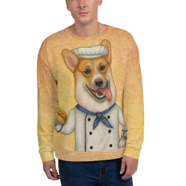 "Unisex sweatshirt ""An empty belly is the best cook"" (Pembroke Welsh Corgi)"