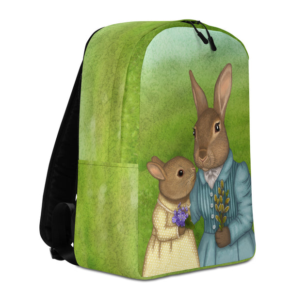 "Backpack ""It is never winter in the land of hope"" (Hares)"