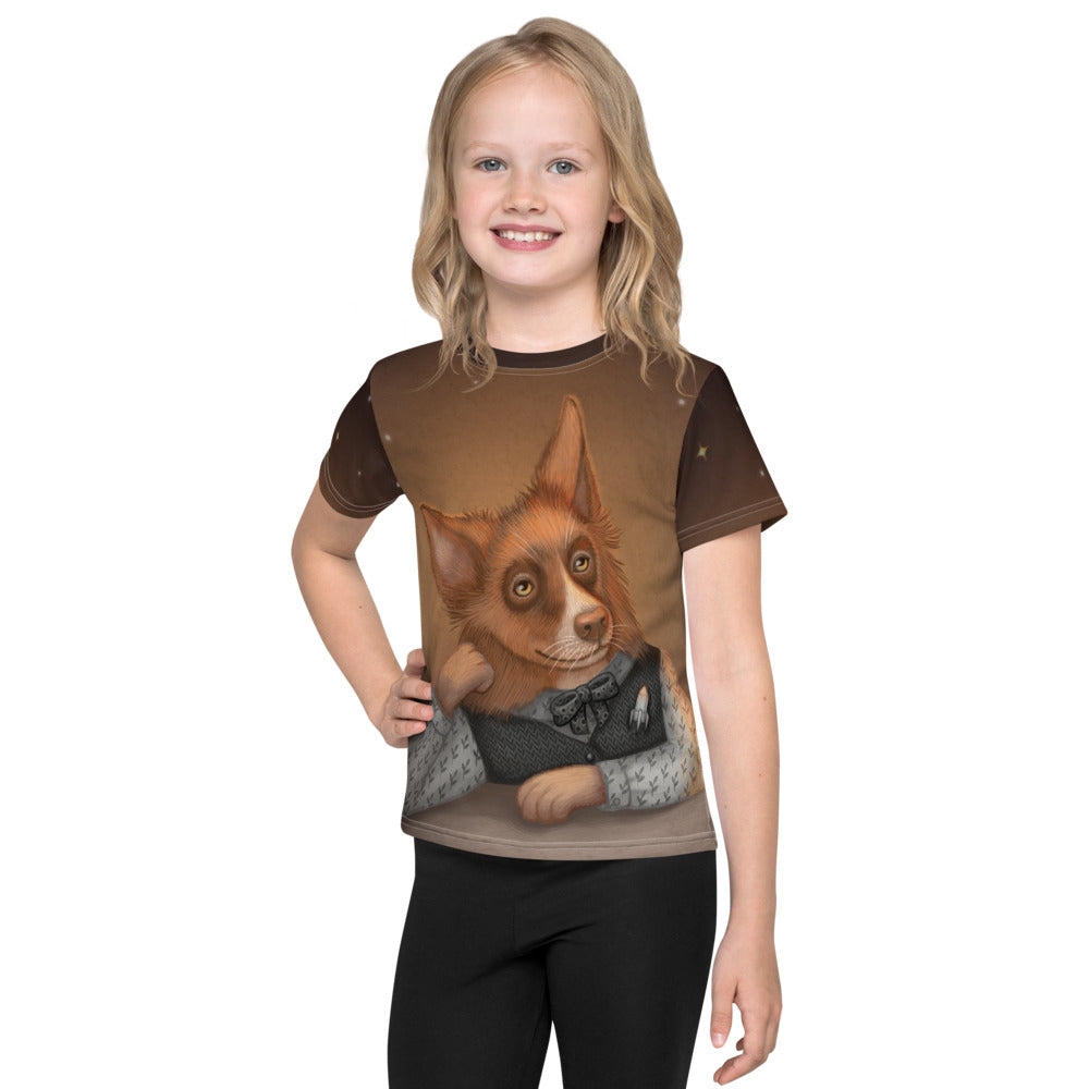 "Unisex kids T-shirt ""He who understands music understands the cosmos"" (Border Collie)"