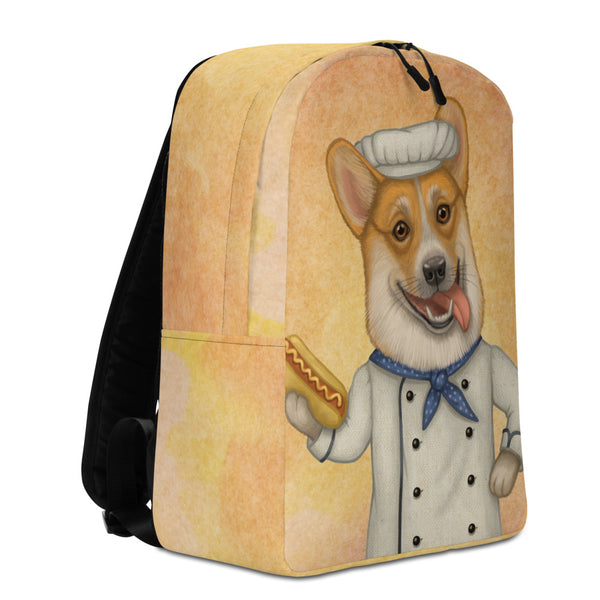 "Backpack ""An empty belly is the best cook"" (Pembroke Welsh corgi)"