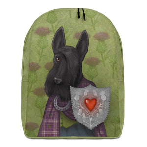 "Backpack ""Real power is in the heart"" (Scottish Terrier)"