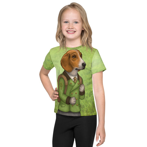 "Unisex kids T-shirt ""Do not wait until tomorrow to hunt"" (Estonian Hound)"