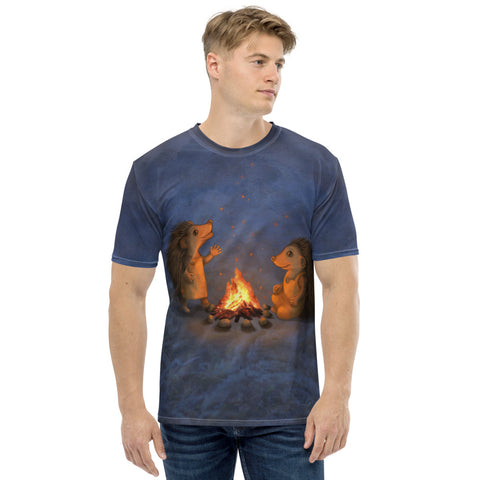 "Men's T-shirt ""Blacksmith's children are not afraid of sparks"" (Hedgehogs)"