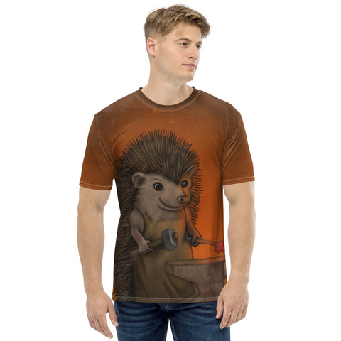 "Men's T-shirt ""Everyone is the blacksmith of his own fortune"" (Hedgehog)"