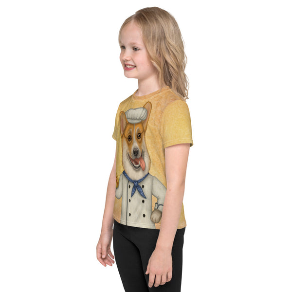 "Unisex kids T-shirt ""An empty belly is the best cook"" (Pembroke Welsh Corgi)"