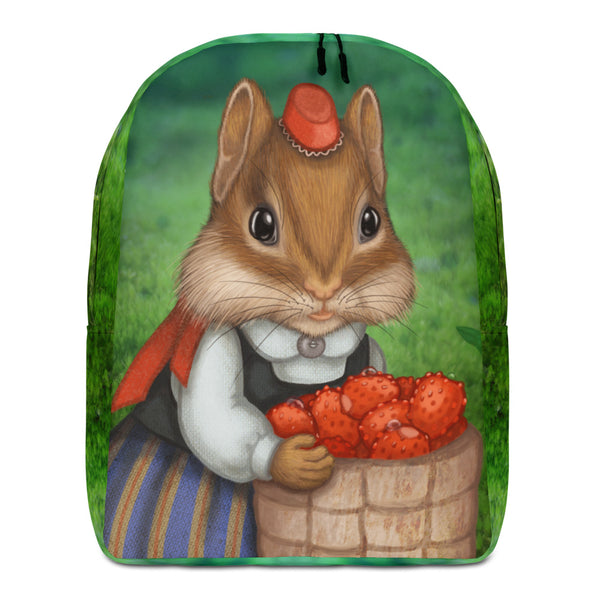 "Backpack ""Other land blueberry, own land strawberry"" (Chipmunk)"